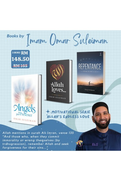 Combo Omar Suleiman : 3 Books (Angels in your Presence, Allah Loves...& Repentance)